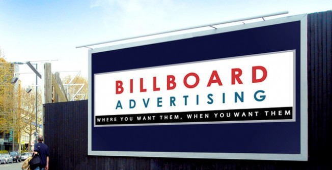 Advertising on Billboards in Anderby Creek